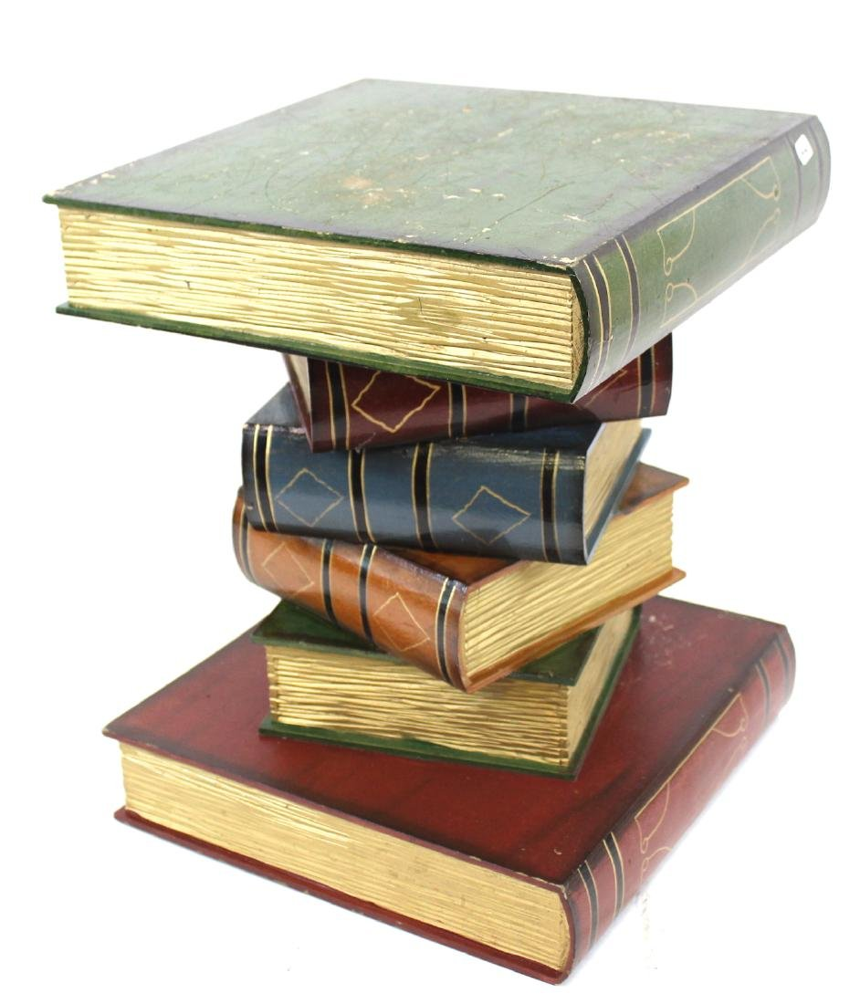 """Stacked Book"" Decorator Pedestal"