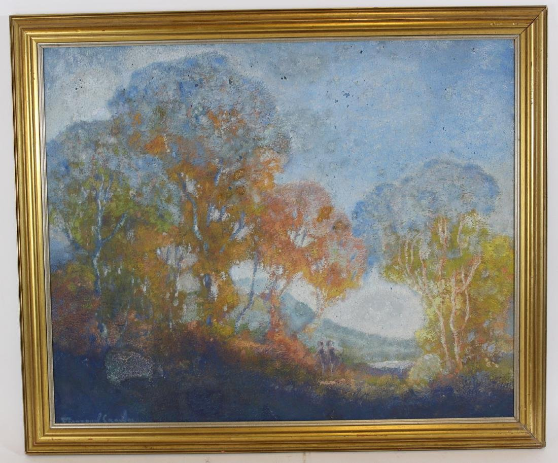 Frederic Crowell. Impressionistic Oil. Signed