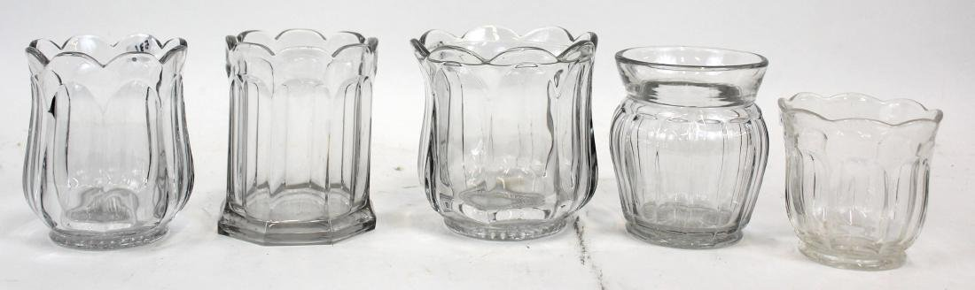 Heisey Glass Lot. Five Sgd. Pcs. in the Lot.