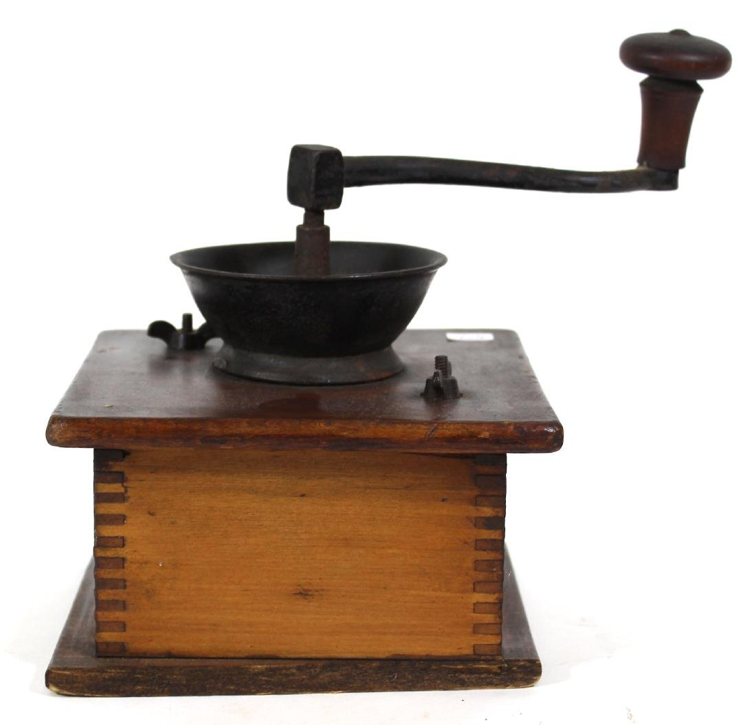 Wooden and Cast Iron Antique Coffee Mill - 2