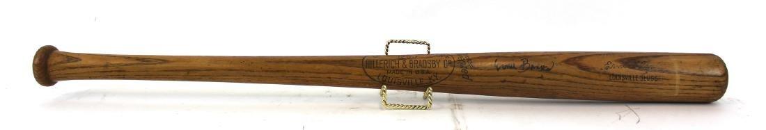 Ernie Banks. Signed. Louisville Slugger Bat. - 2