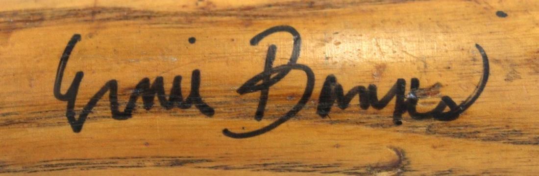 Ernie Banks. Signed. Louisville Slugger Bat. - 3
