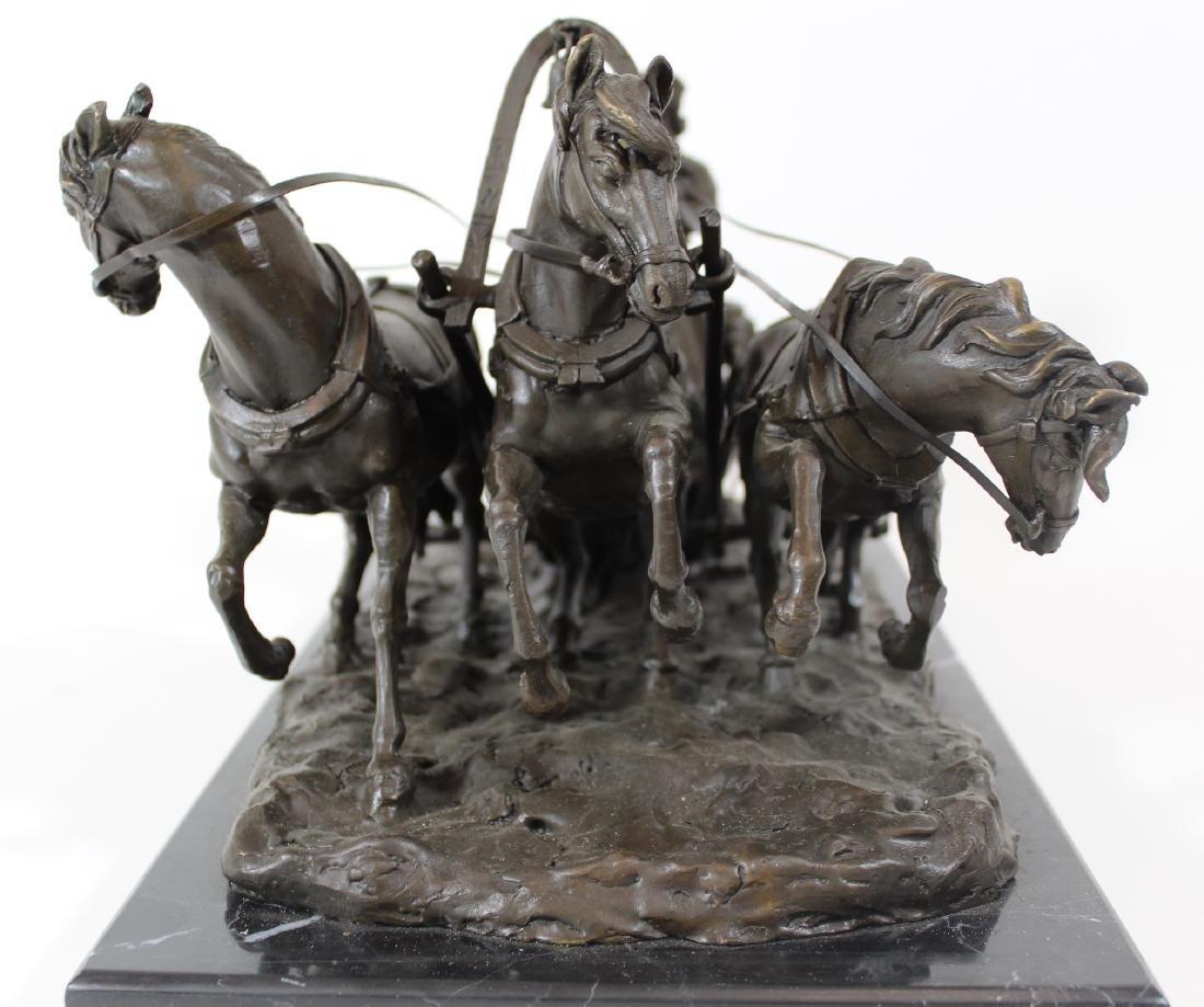 E. Halk. Russian Bronze Sculpture. Troika. . - 2