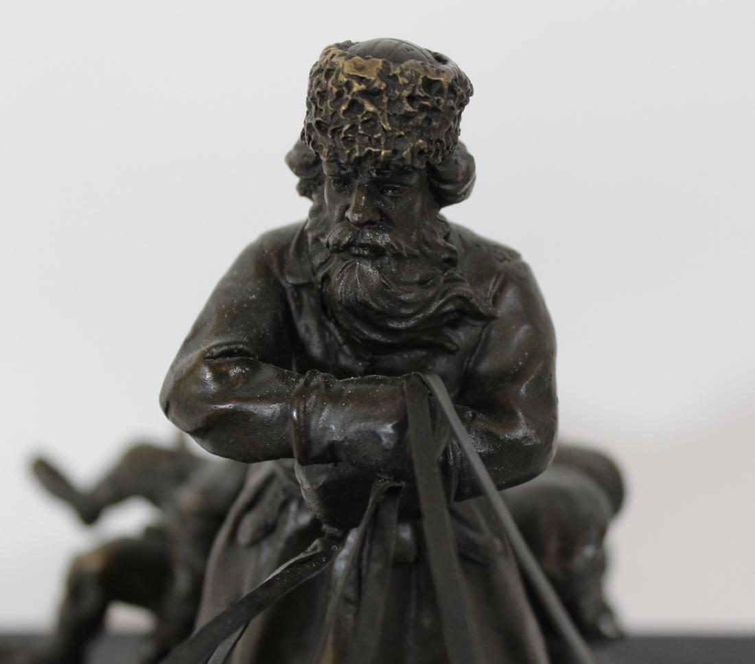 E. Halk. Russian Bronze Sculpture. Troika. . - 3