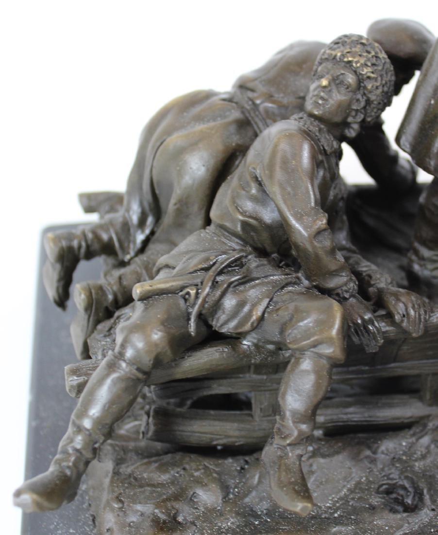 E. Halk. Russian Bronze Sculpture. Troika. . - 5