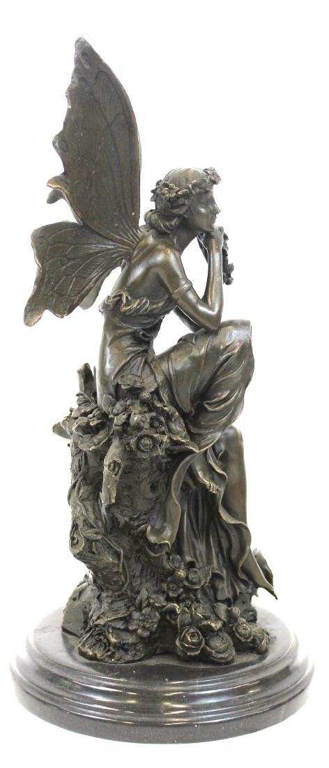 Cagaro. Bronze Winged Fairy. Marble Base - 5