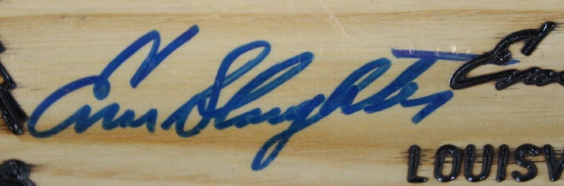 Enos Slaughter. Signed. Louisville Bat - 3