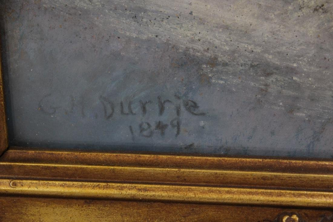 G. H. Durrie. American Pastel.Signed - 2