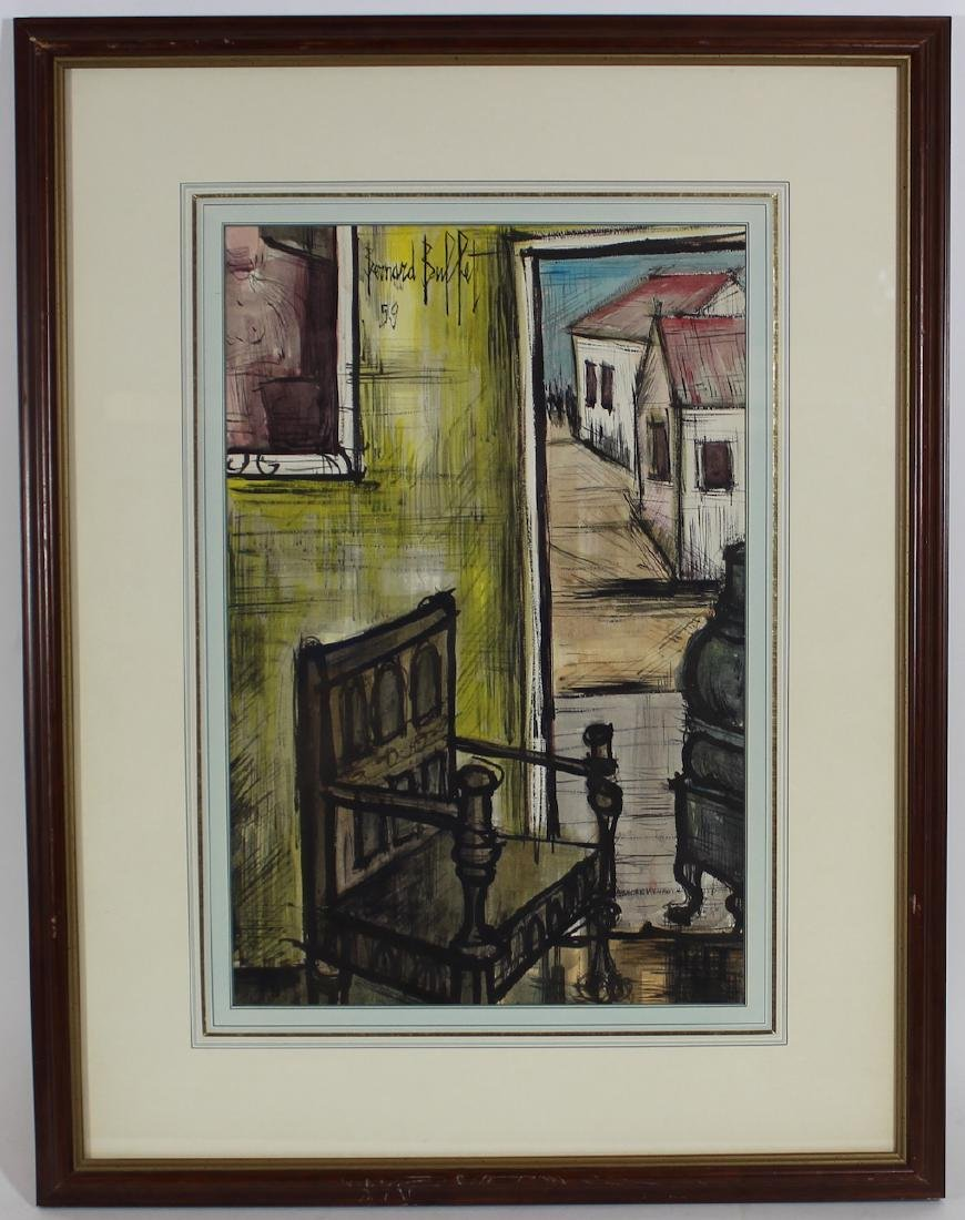 Bernard Buffet. Watercolor. Still Life.