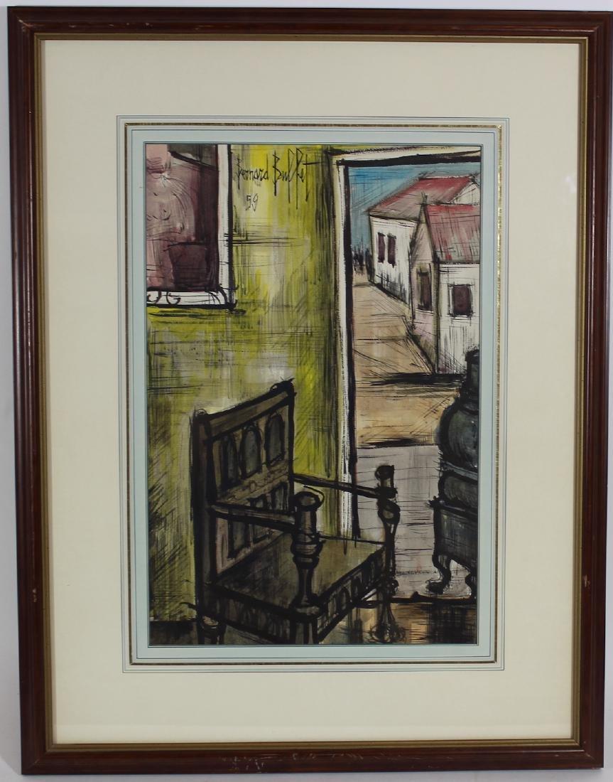 Bernard Buffet. Watercolor. Still Life. - 2
