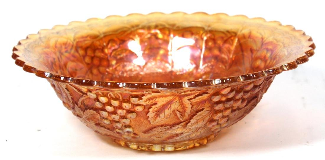 Carnival Glass Bowl. Cherry Decorations