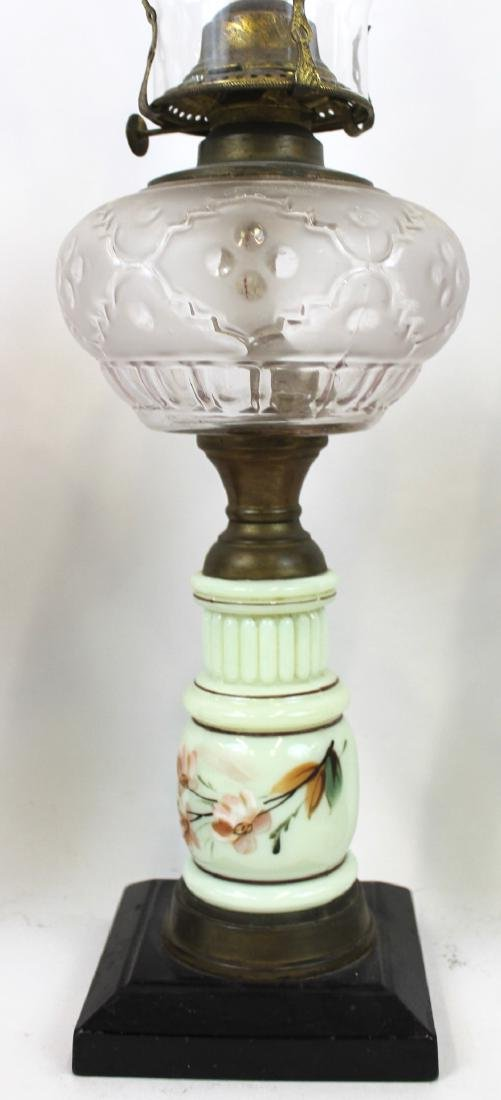 American Antique Pattern Glass Oil Lamps (4) - 3