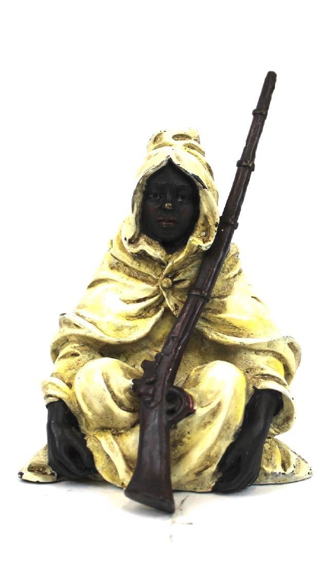 Vienna Bronze. Arab with a Gun.