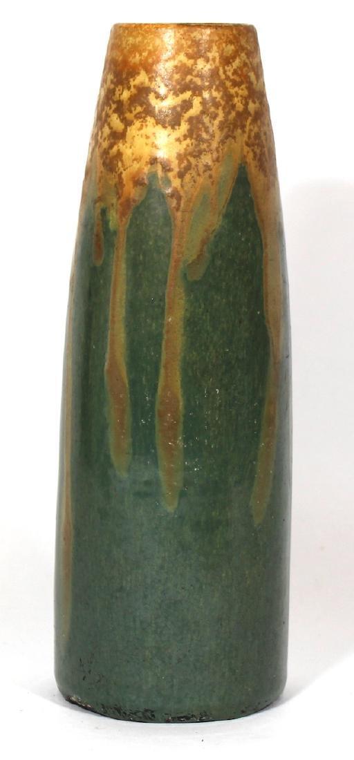 Art Pottery Vase. High Glaze to Matte Spatter