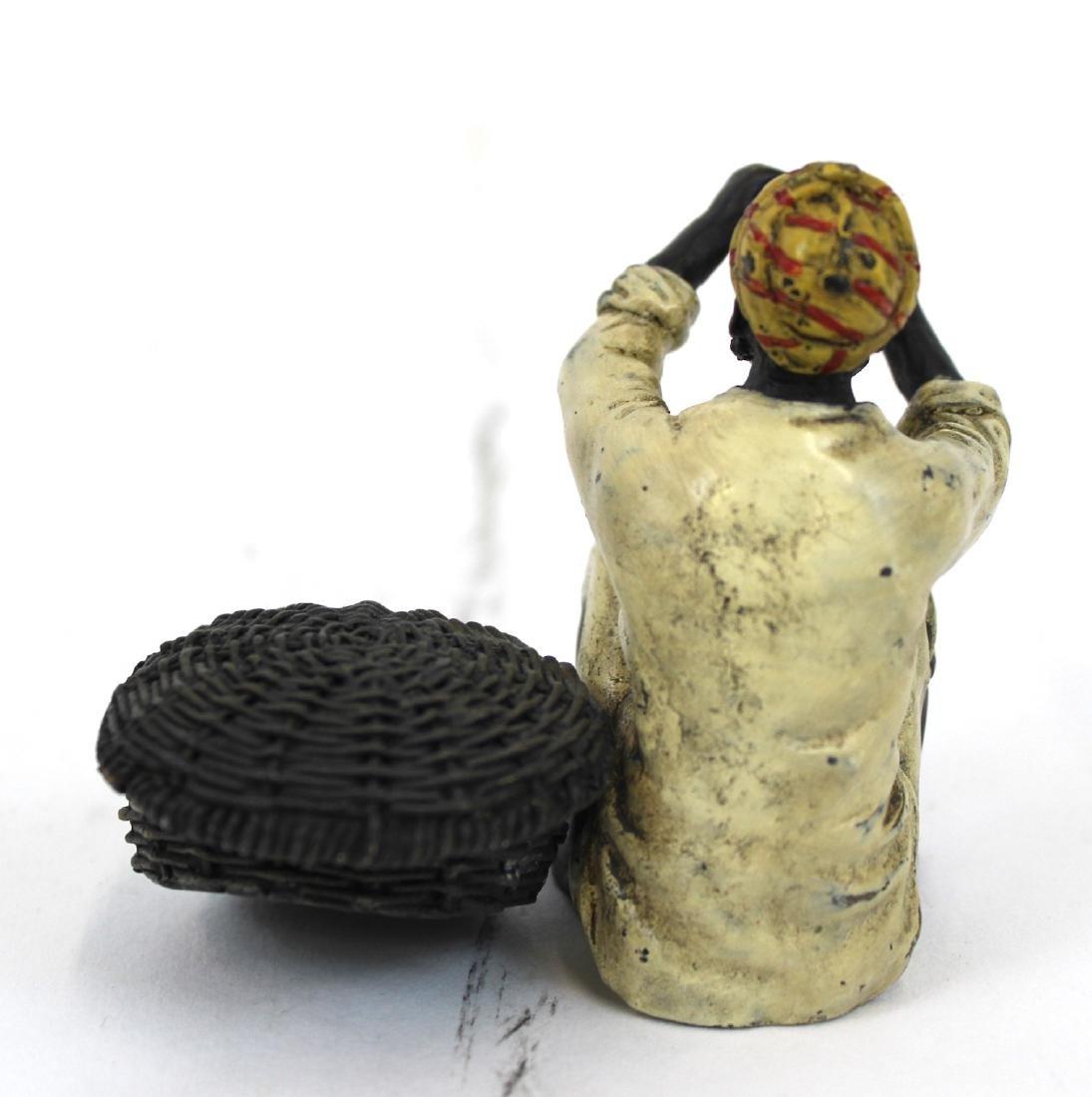 Vienna Bronze Figure. Snake Charmer. - 2