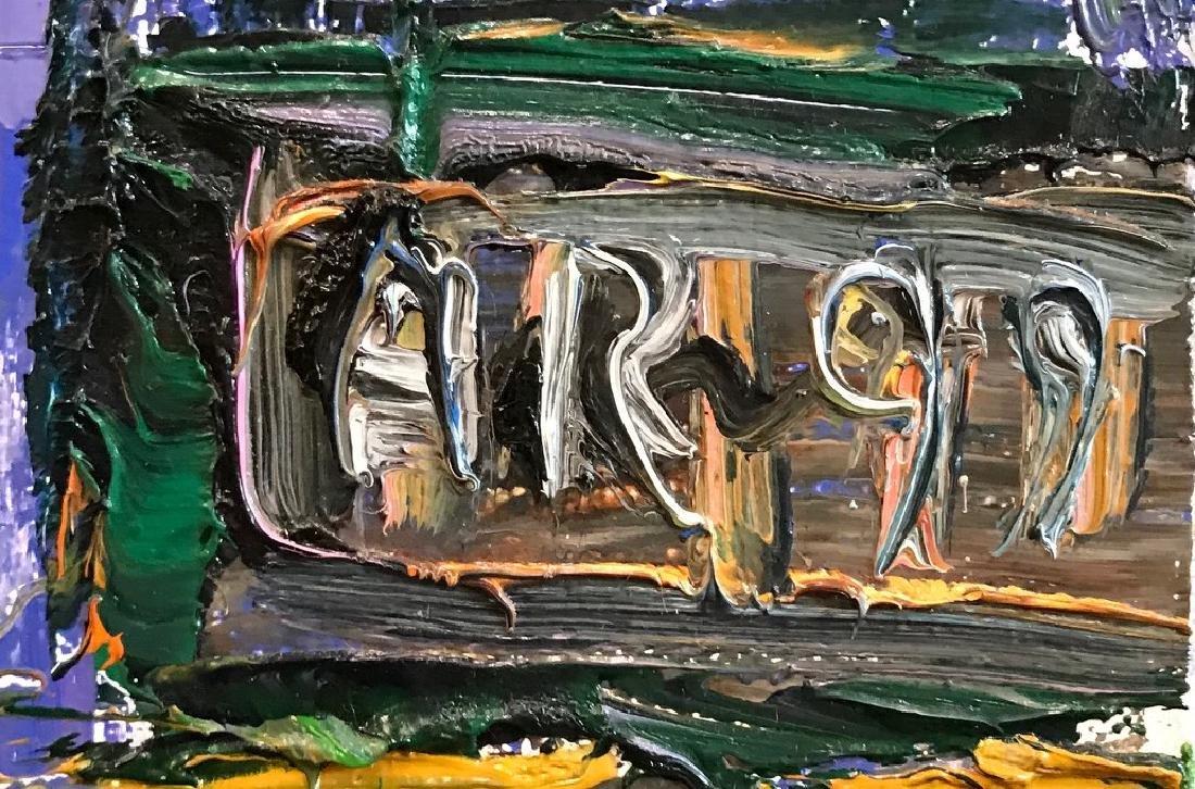 Arthur Robins. Oil. NYC. Chelsea Street Scene Sgd. - 2