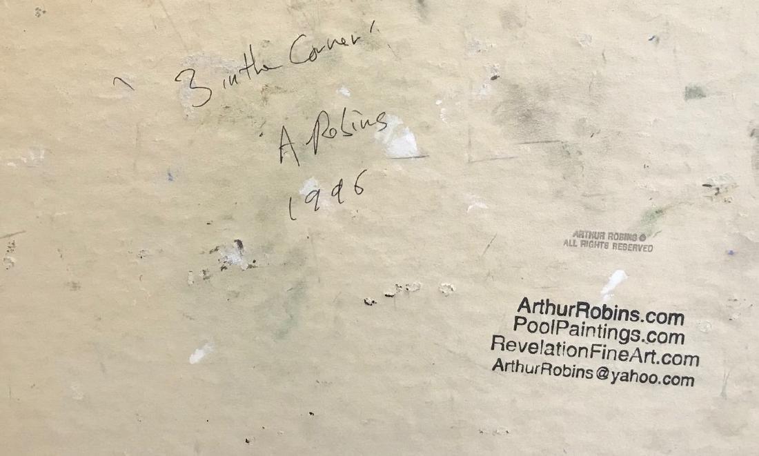 "Arthur Robins. Oil ""3 in the Corner"" Sdg. - 3"