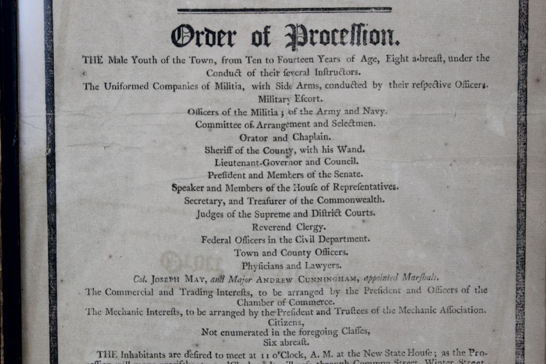 1800 George Washington Eulogy Broadside Boston - 3