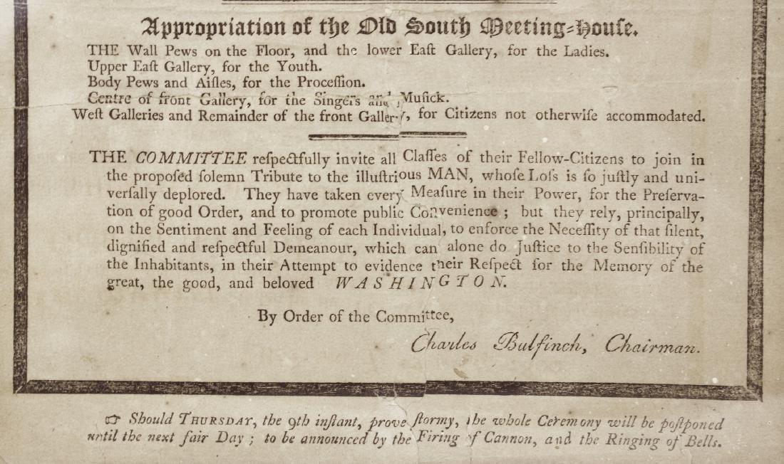 1800 George Washington Eulogy Broadside Boston - 5