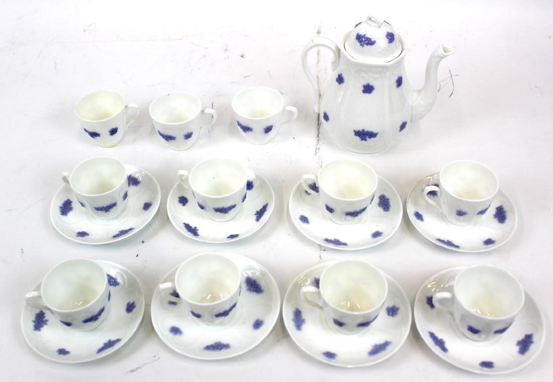 )Ironstone Tea Leaf Lustre Tea Set. (23)
