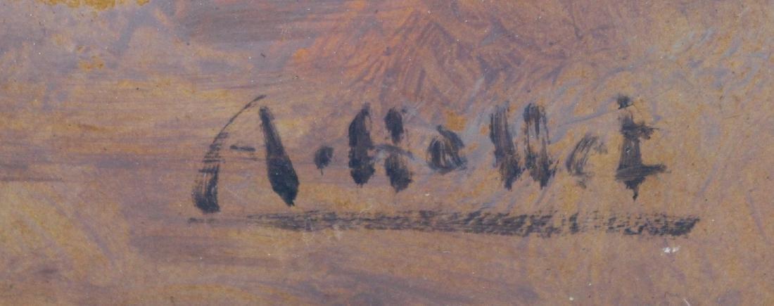Andre Hallet.Oil. African Scene. Signed. - 2