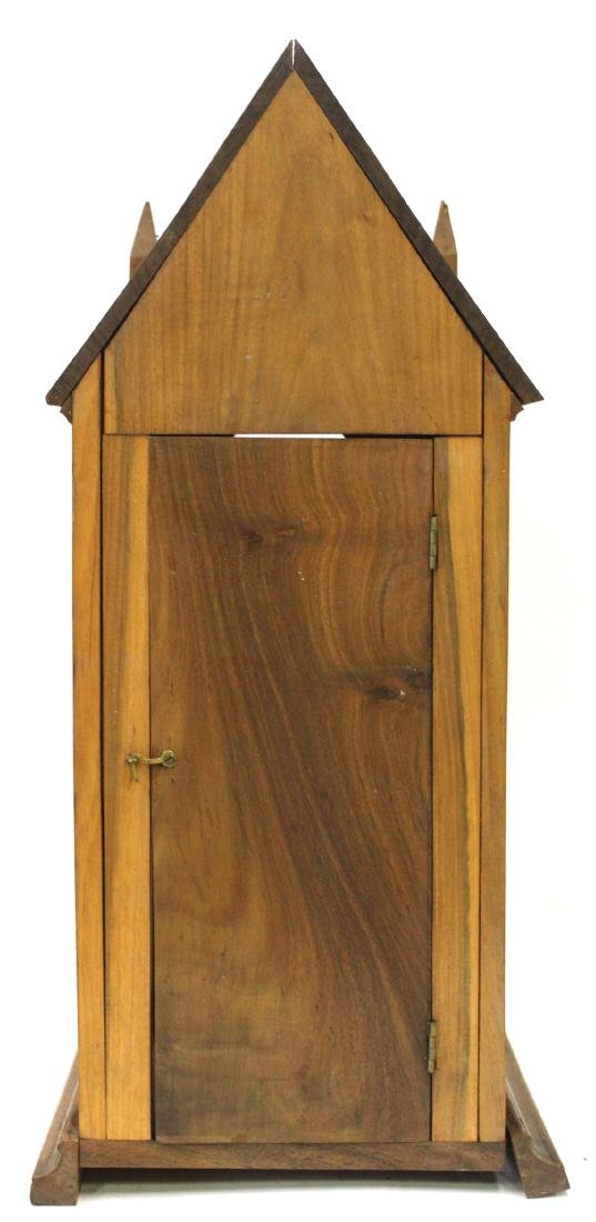 Antique Gothic Shrine with Figure & Shelf - 4