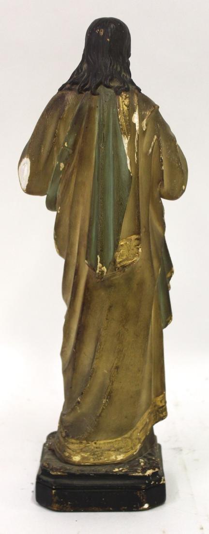 Antique Gothic Shrine with Figure & Shelf - 7