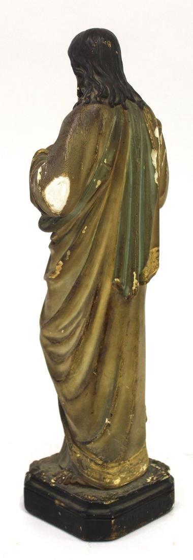 Antique Gothic Shrine with Figure & Shelf - 8