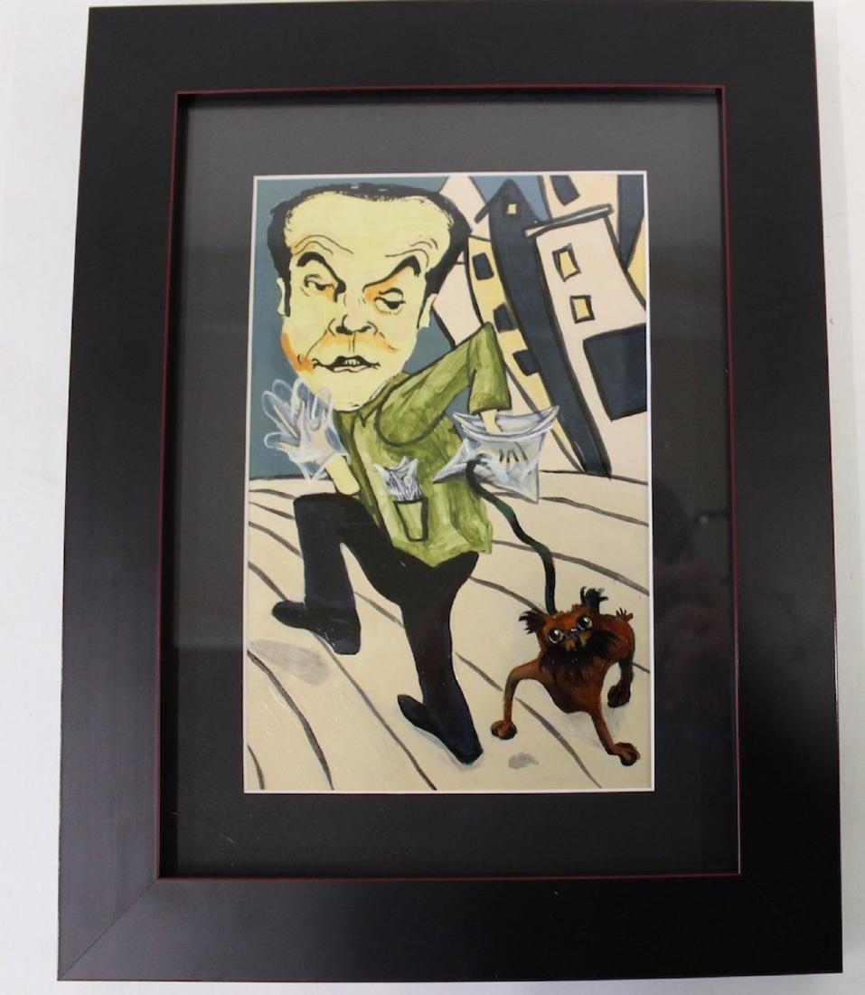 Pop Art Painting. Jack Nicholson w/Puppy.Oops!