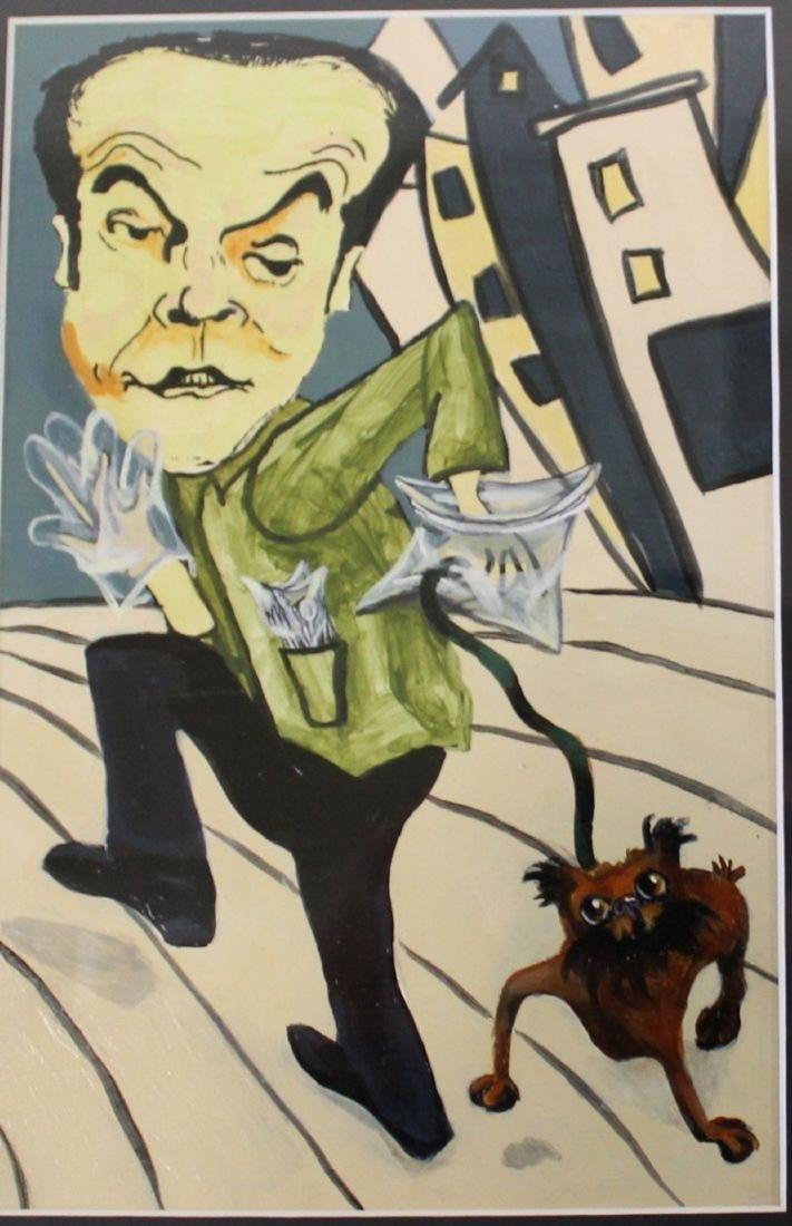 Pop Art Painting. Jack Nicholson w/Puppy.Oops! - 2