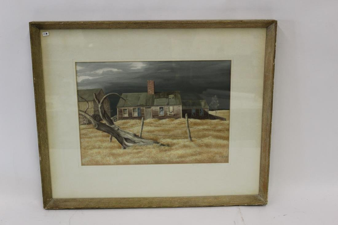 Ethel A. Gilmore. Watercolor. Signed.