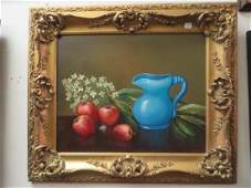 Kristina Nemethy Oil Still Life Signed