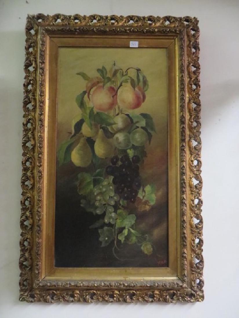 M. H. B. Oil on Canvas. Still Life. Sgd.