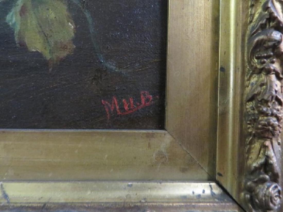 M. H. B. Oil on Canvas. Still Life. Sgd. - 2