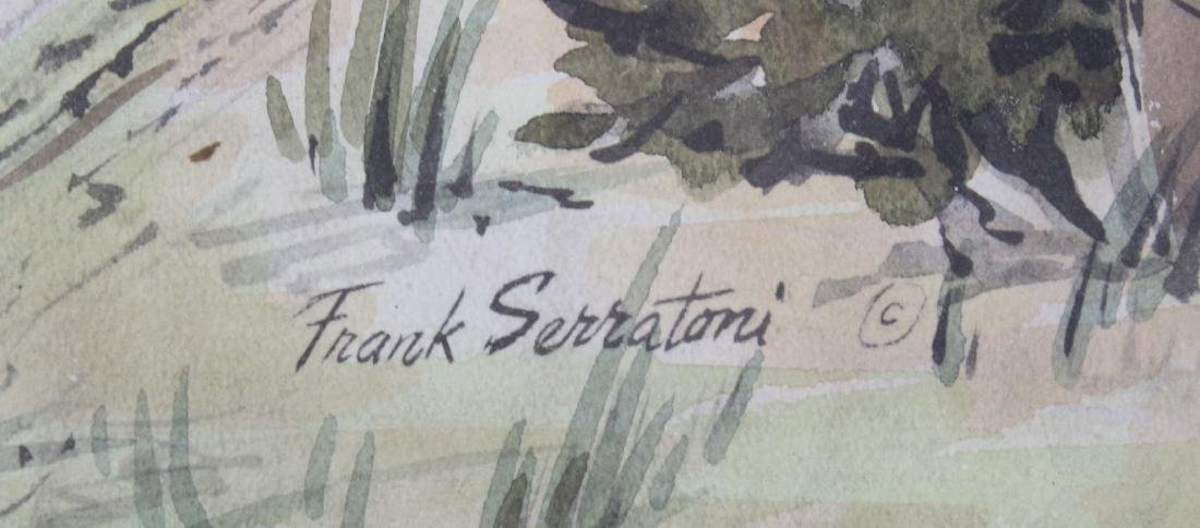 Sdg. Frank Serratoni. Watercolor. - 2