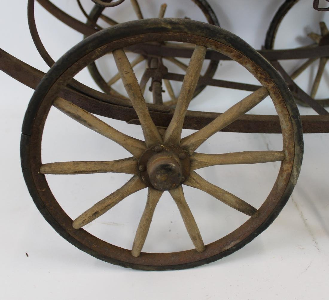 Turn of the Century Baby Carriage. Wicker - 2