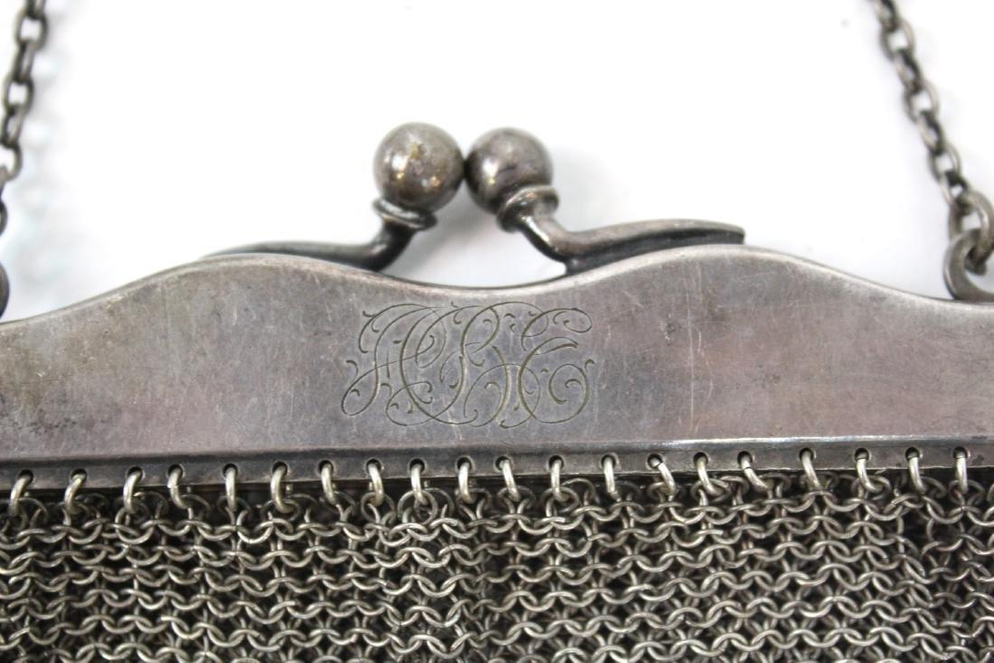 German Silver Mesh Purse - 2