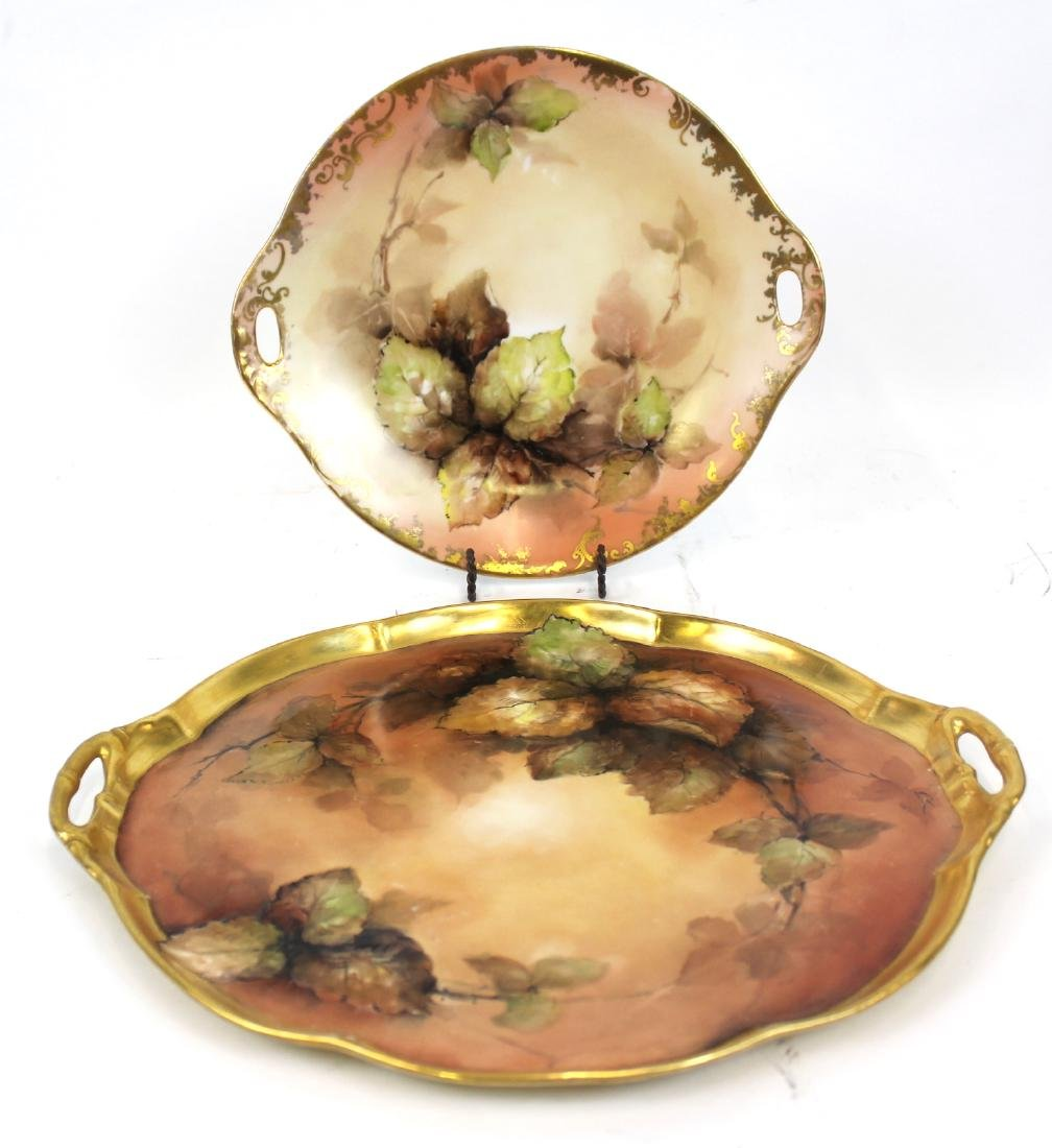 Austrian Hand Painted Platter and a Second