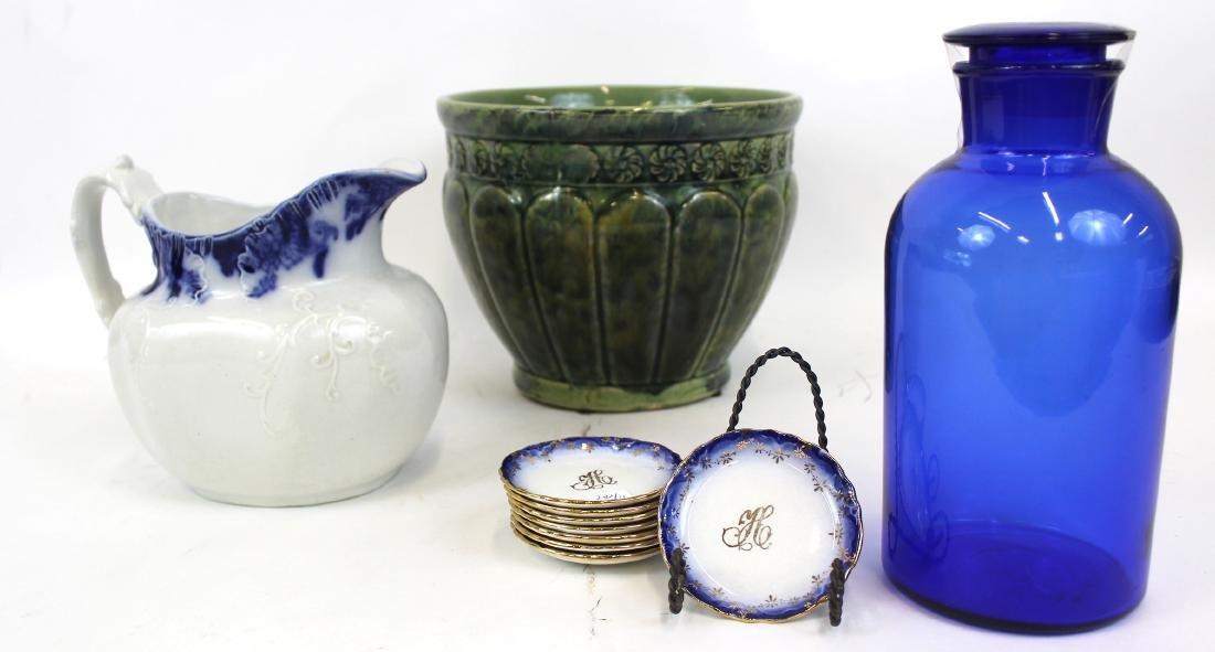 Dealer's Lot Majolica, Ironstone, Flo-Blue(11)