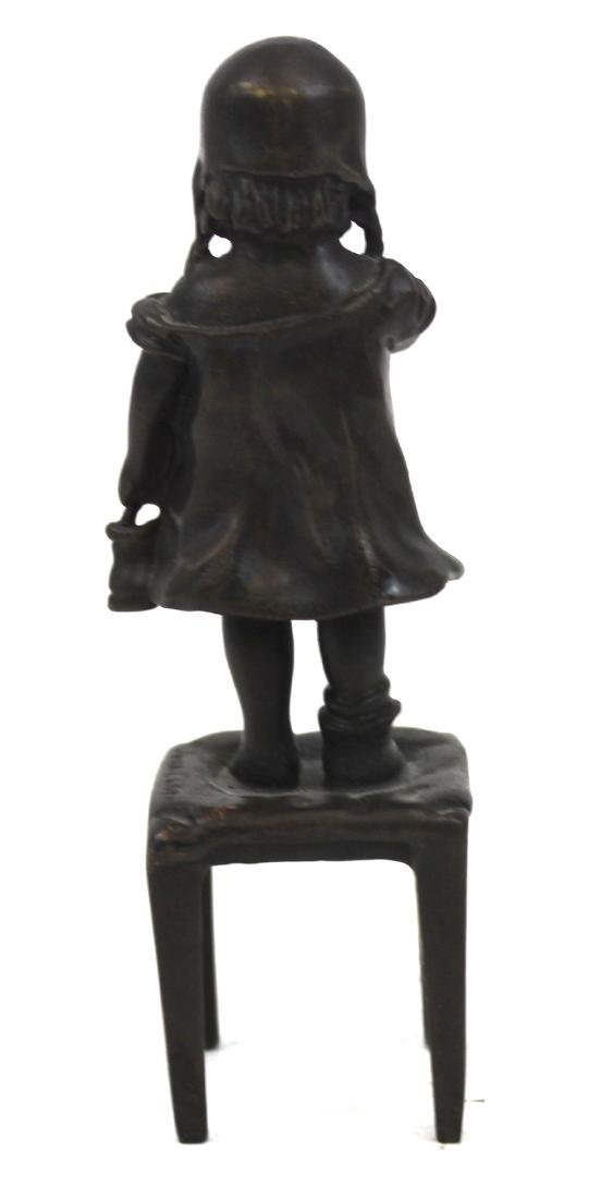 Bronze Figure. Girl on a Chair - 3