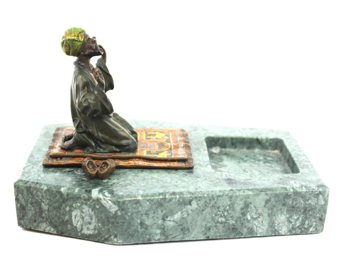 Vienna Bronze Desk Piece. Marble Holder. - 4