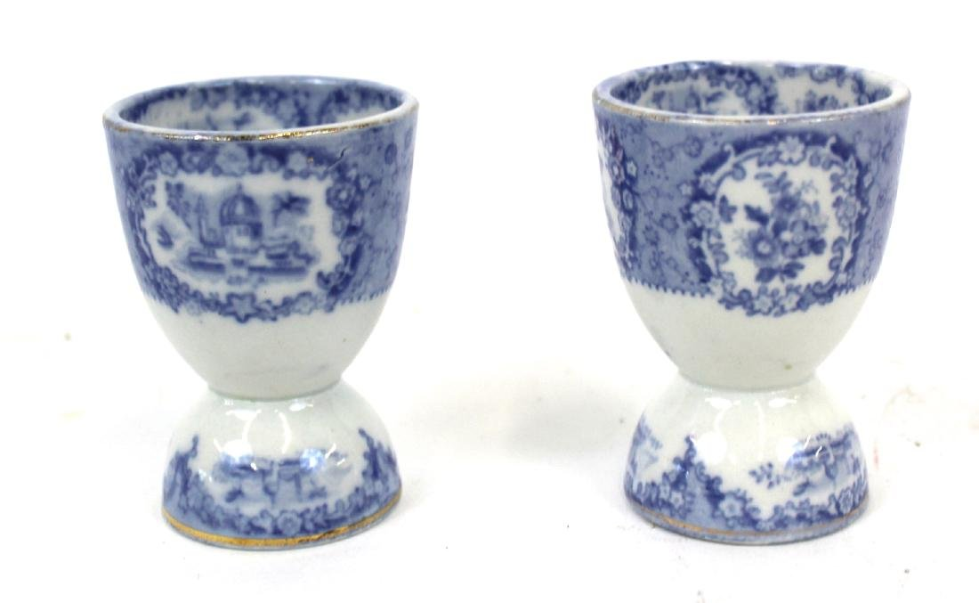 Collector's Lot of Flo-Blue & Staffordshire.(7) - 2