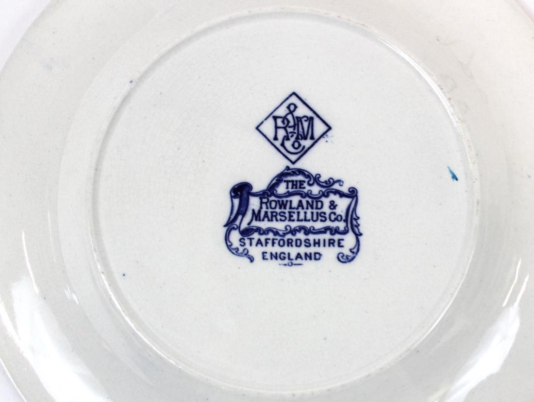 Collector's Lot of Flo-Blue & Staffordshire.(7) - 7