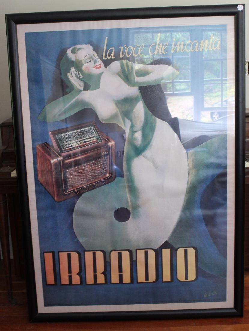 """Poster. Irradio. """"La Voce che Incanta"""""""