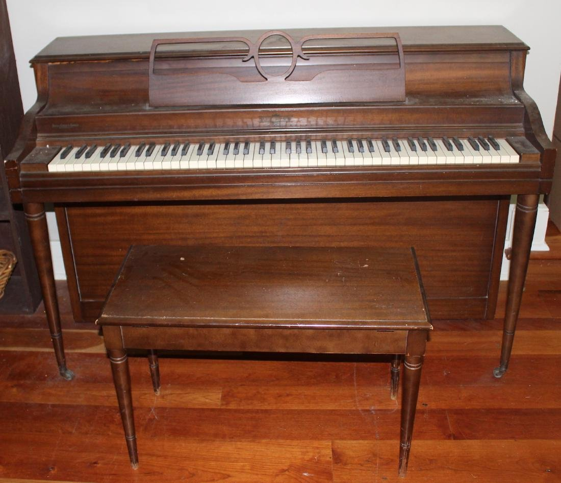 Cable-Nelson Upright Piano with Stool