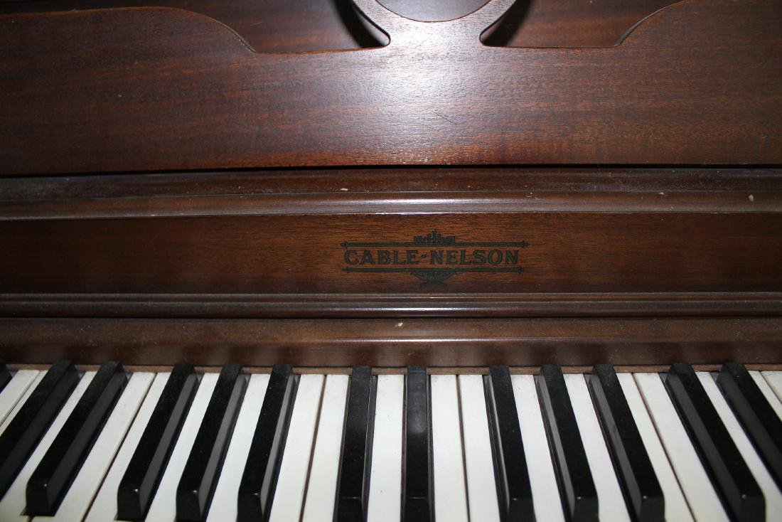Cable-Nelson Upright Piano with Stool - 2