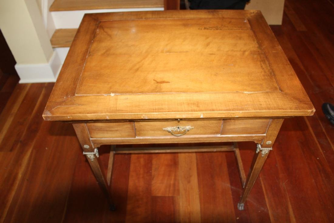 Antique Maple Schoolmaster's Desk