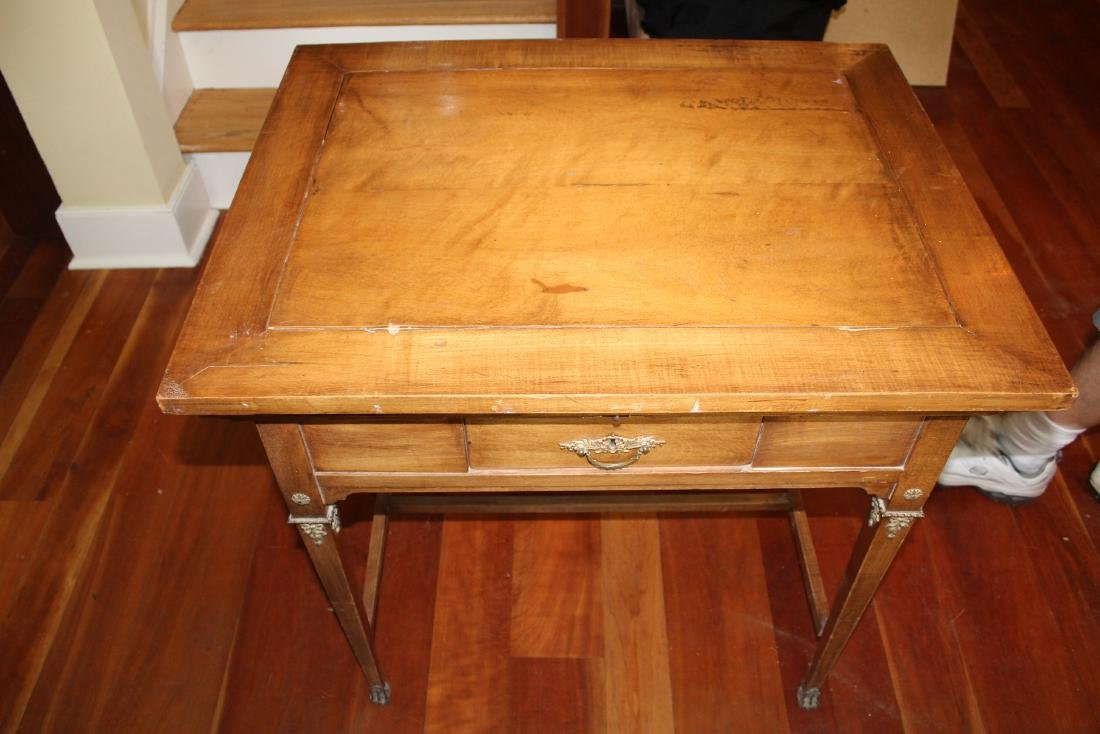 Antique Maple Schoolmaster's Desk - 2