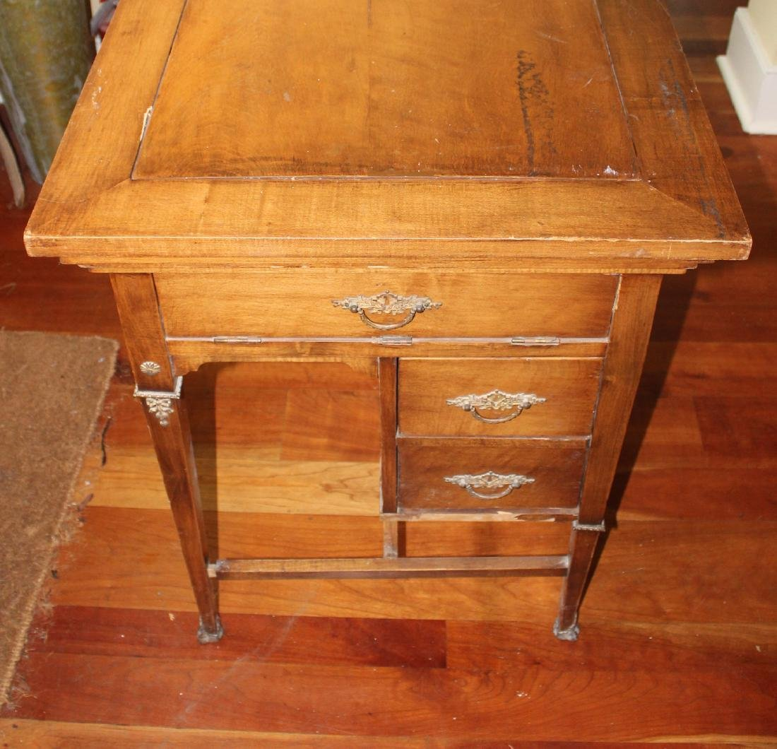Antique Maple Schoolmaster's Desk - 3