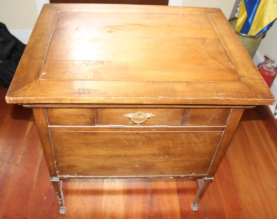 Antique Maple Schoolmaster's Desk - 4
